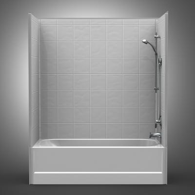 Fibergl Tub Shower