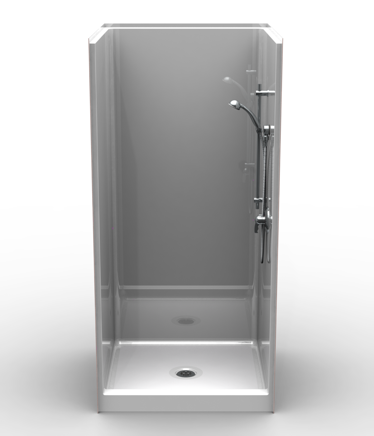 Remodeler Shower One Piece 38x38 4 Curb Smooth Wall Look