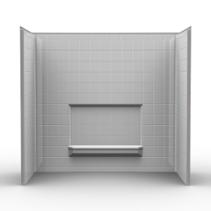 Remodeler Tub/Shower Walls U2013 Three Piece 60×32 U2013 Wall Surround W/4 Inch  Tile Look