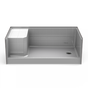 Curbed Shower Pan Seamless 60 30