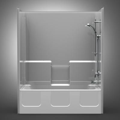 Ordinaire Remodeler Tub/Shower U2013 One Piece 54×32 U2013 Smooth Wall Look