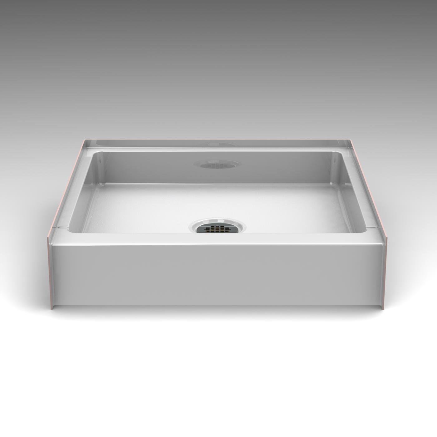 Curbed Shower Pan - Seamless 30x30 - Best Bath Showroom