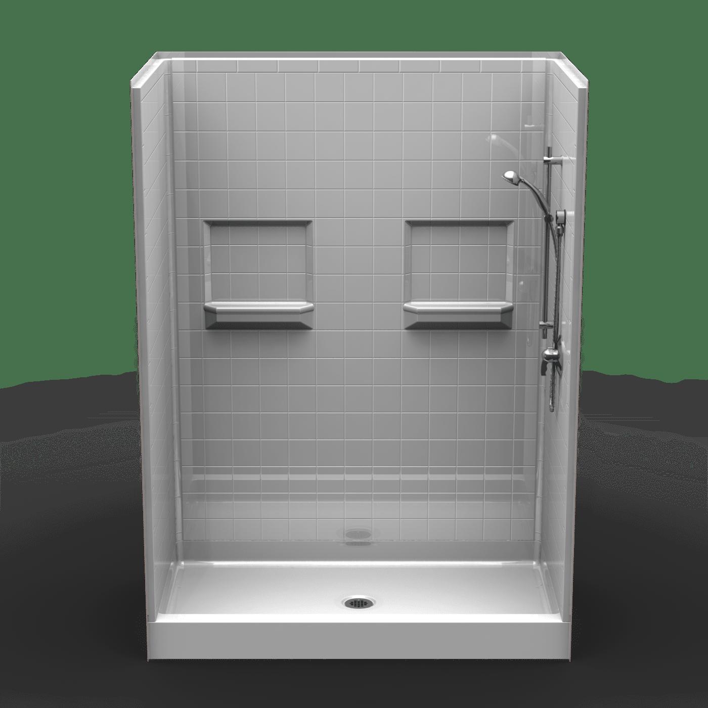 Remodeler Shower Five Piece 60x32 Real Tile Look