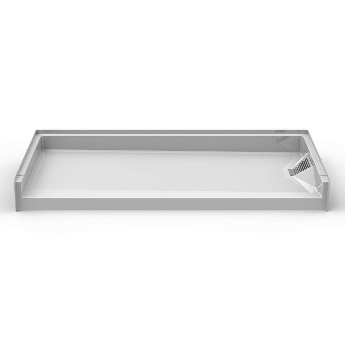 30 X 30 Shower Pan.Barrier Free Shower Pan Seamless 60x30 W Side Drain For Above Floor Rough In Plumbing