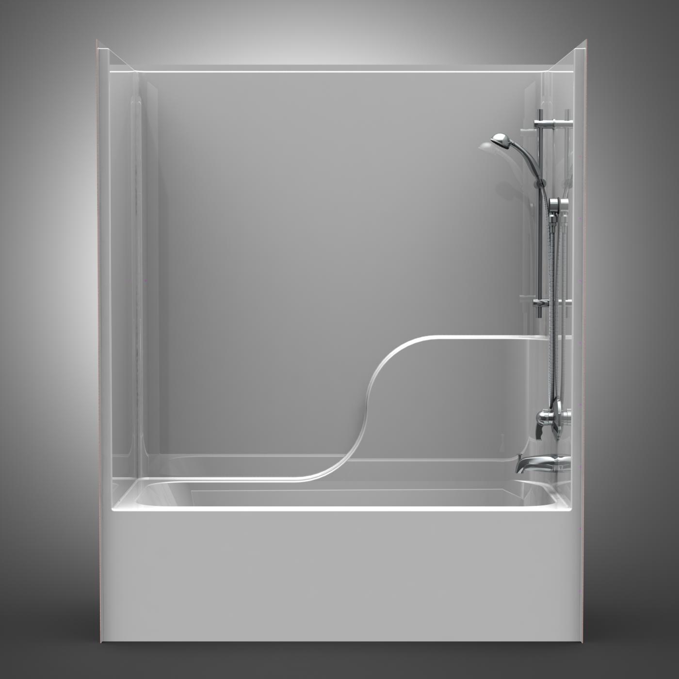 Builder Tub/Shower - One Piece 60x32 - Smooth Wall Look - Best Bath ...